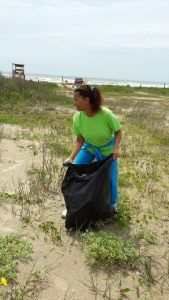 Cleaning the beaches of Galveston