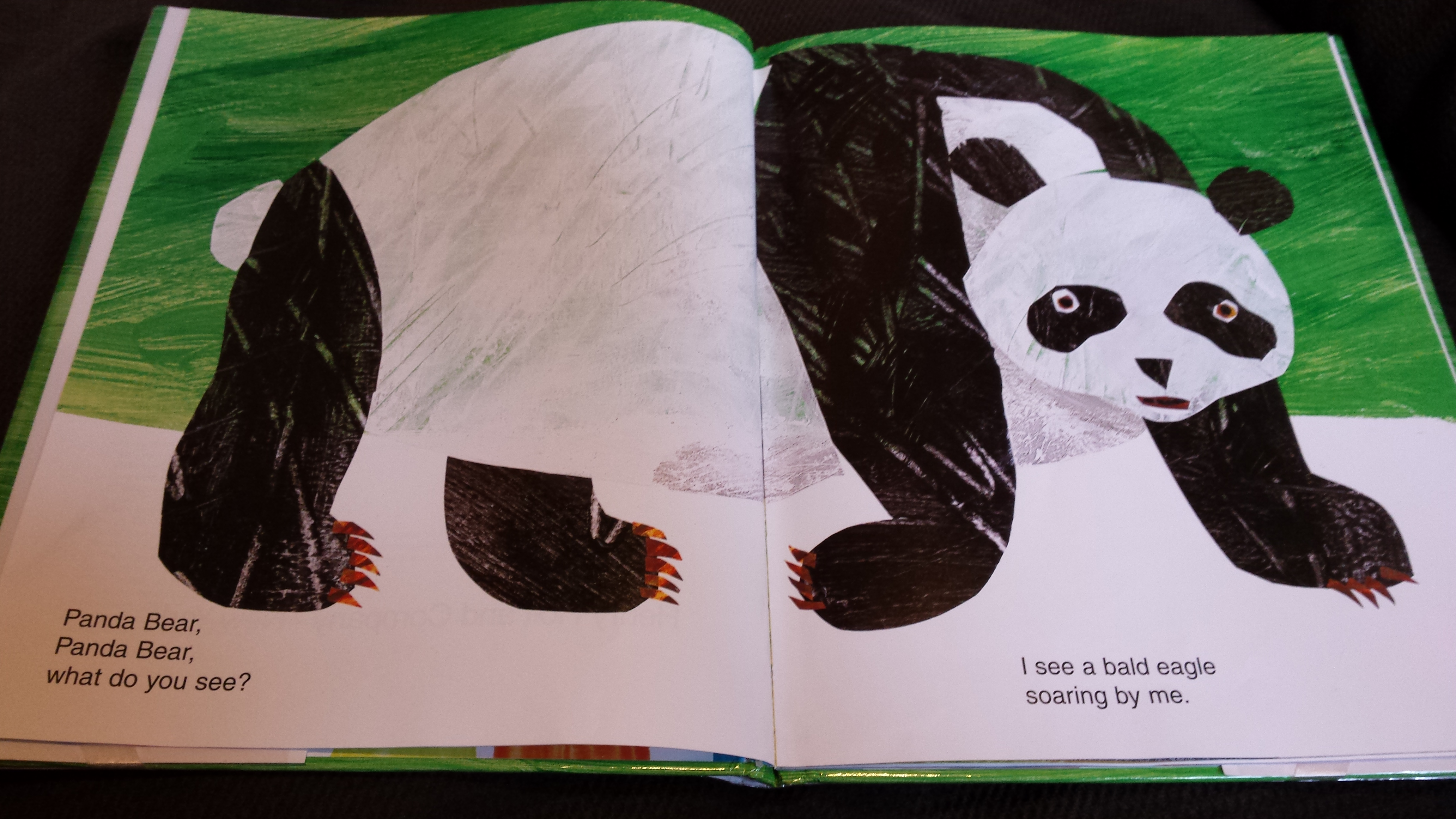 And you will see the panda in this picture